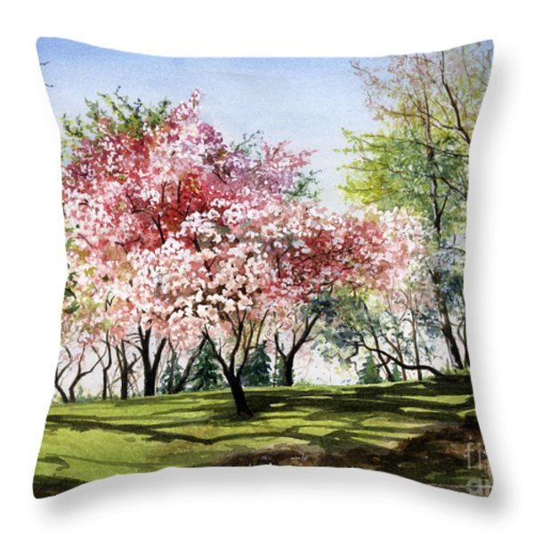 Spring Morning Throw Pillow by Barbara Jewell