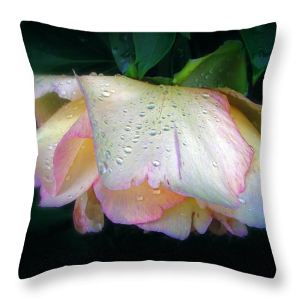 Spring Pearl Throw Pillow by Jessica Jenney
