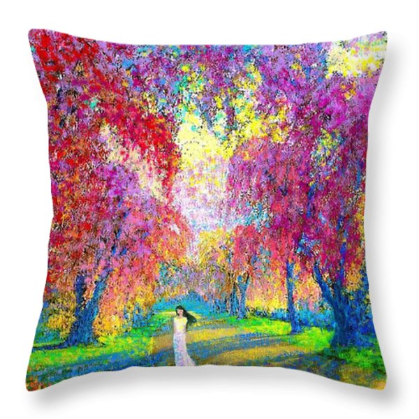 Spring Rhapsody Throw Pillow by Jane Small