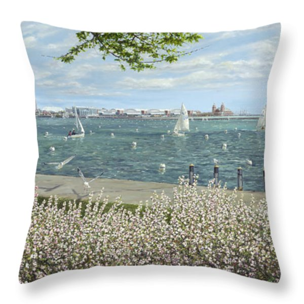 Spring Tidings Throw Pillow by Doug Kreuger