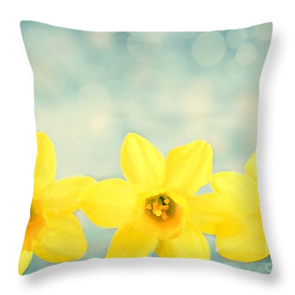 Spring Yellow Throw Pillow by Darren Fisher