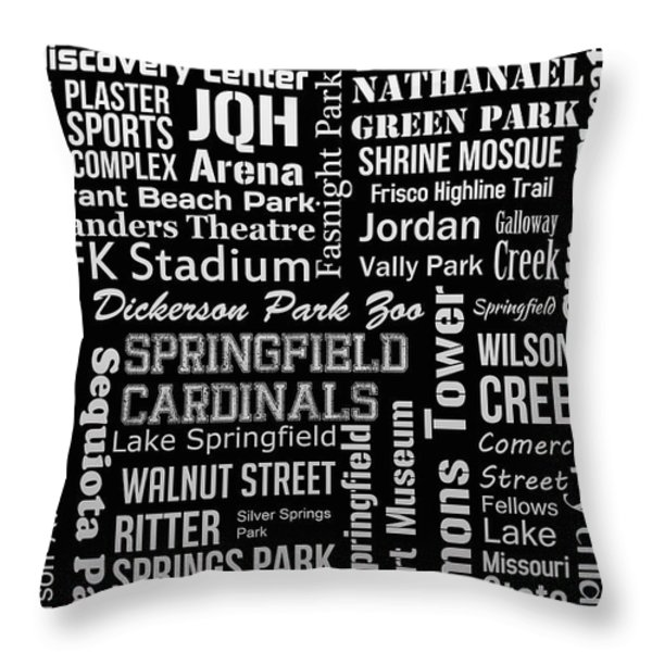 Springfield Throw Pillow by Ryan Burton