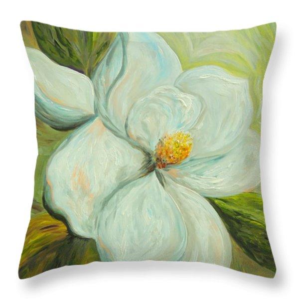Spring's First Magnolia 2 Throw Pillow by Eloise Schneider