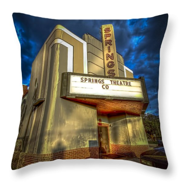 Springs Theater Co Throw Pillow by Marvin Spates