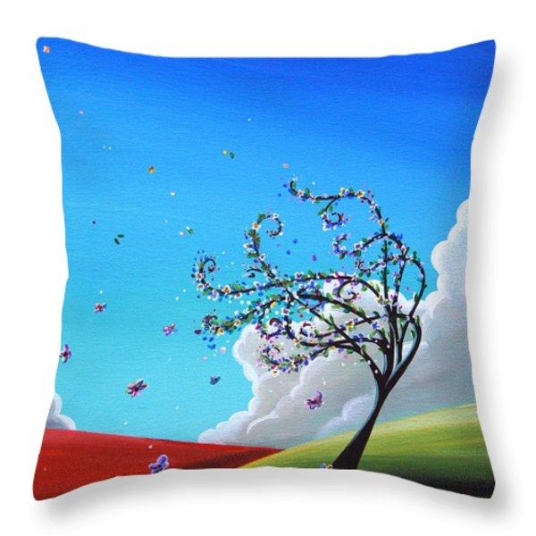 Springtime Throw Pillow by Cindy Thornton