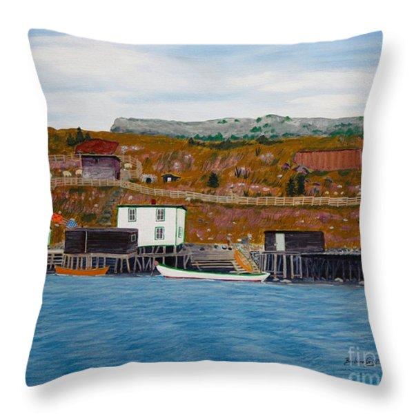 Springtime Long Ago  Throw Pillow by Barbara Griffin