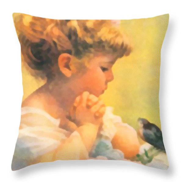 Springtime of Life Throw Pillow by Bessie Pease Gutmann