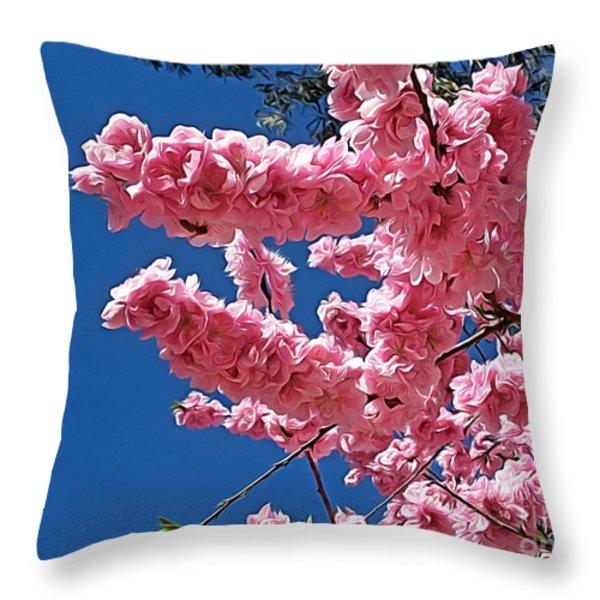 Springtime Pink Throw Pillow by Kaye Menner