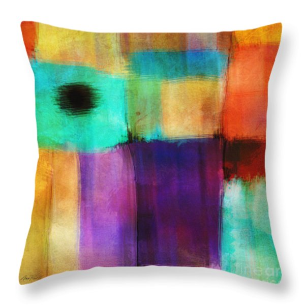 Square Abstract Study Three Throw Pillow by Ann Powell