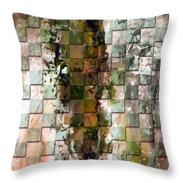 Square mania - Abstract 09 Throw Pillow by Emerico Imre Toth