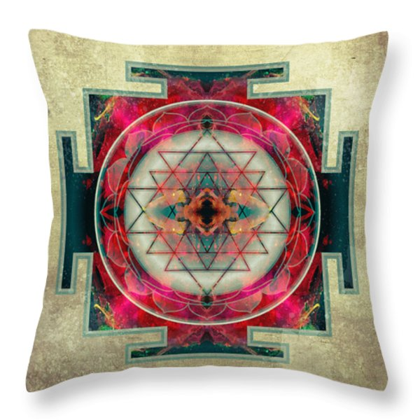 Sri Yantra Throw Pillow by Filippo B
