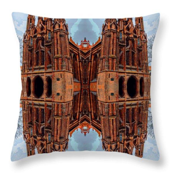 St. Anne's Church Art Throw Pillow by Yevgeni Kacnelson