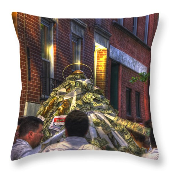 St Anthony's Feast - Boston North End Throw Pillow by Joann Vitali