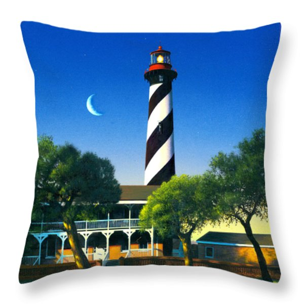 St Augustine Throw Pillow by MGL Studio - Chris Hiett