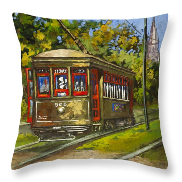 St. Charles No. 905 Throw Pillow by Dianne Parks