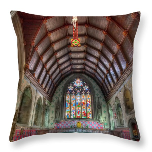 St David's Throw Pillow by Adrian Evans
