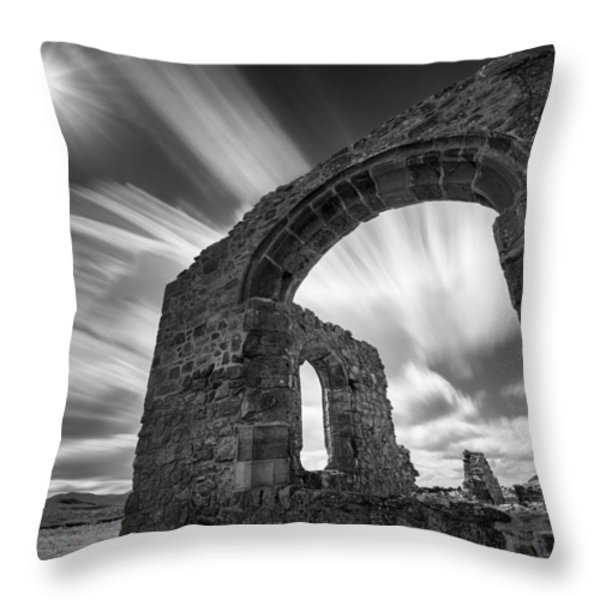 St Dwynwen's Church Throw Pillow by Dave Bowman