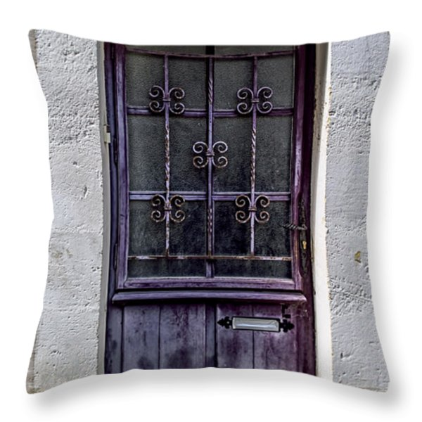 St Emilion Door Throw Pillow by Nomad Art And  Design