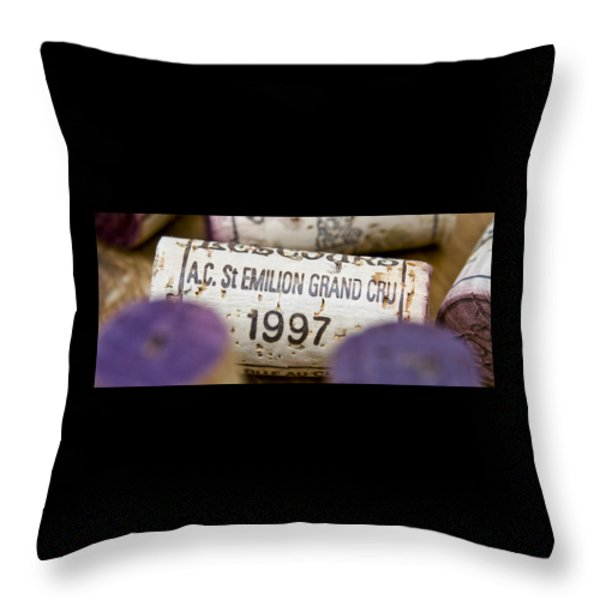 St Emilion Grand Cru Throw Pillow by Frank Tschakert