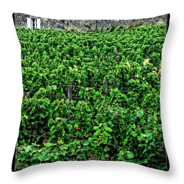 St. Emilion Winery Throw Pillow by Joan  Minchak