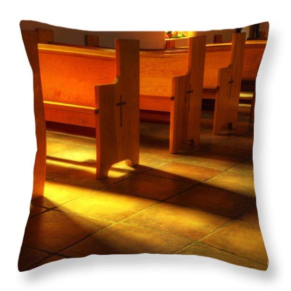 St Francis De Paula Shadow And Light Throw Pillow by Bob Christopher