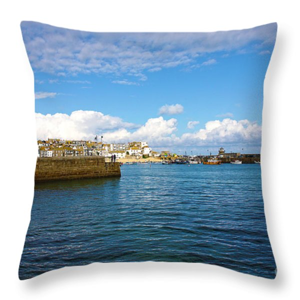 St Ives Cornwall Throw Pillow by Terri Waters