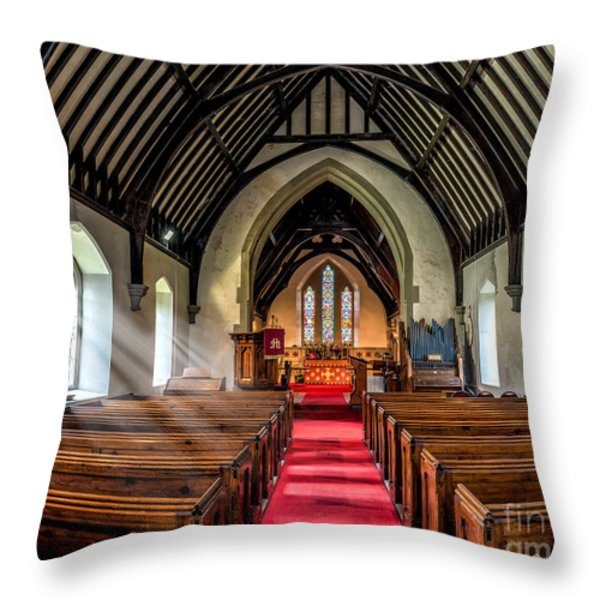 St Johns Church Throw Pillow by Adrian Evans