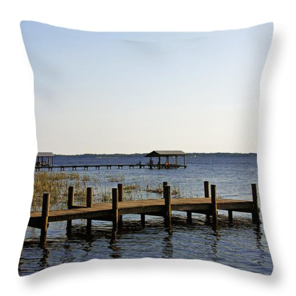 St Johns River Florida - Walk this way Throw Pillow by Christine Till