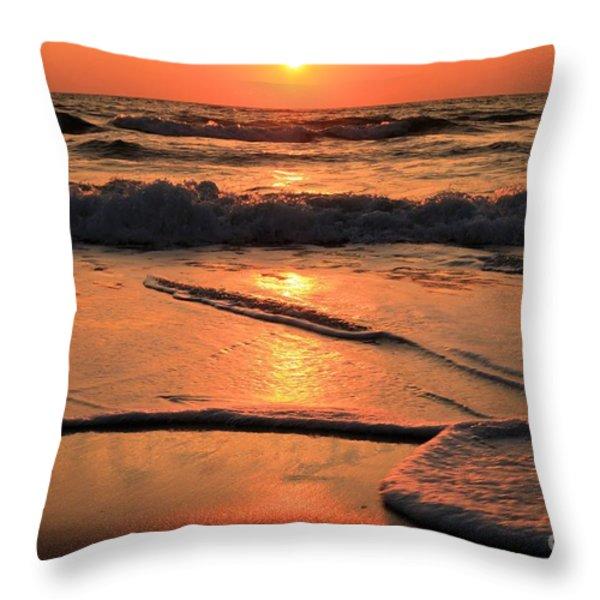 St. Joseph Sunset Swirls Throw Pillow by Adam Jewell