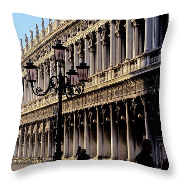 St. Mark's Square Venice Italy Throw Pillow by Ryan Fox