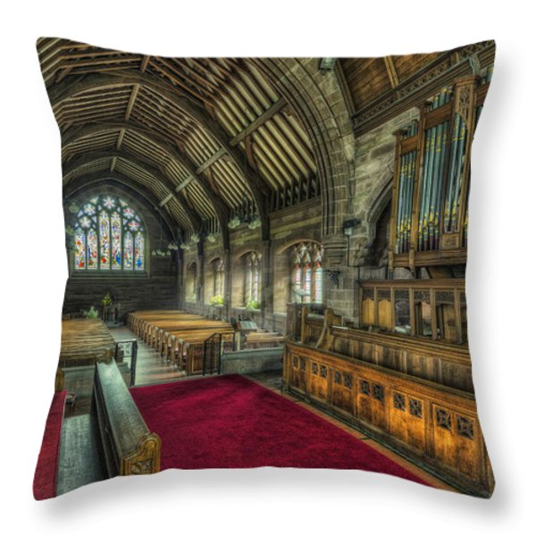 St Marys Church Organ Throw Pillow by Ian Mitchell
