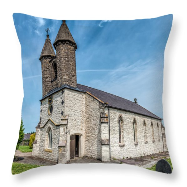 St Michael Church Throw Pillow by Adrian Evans