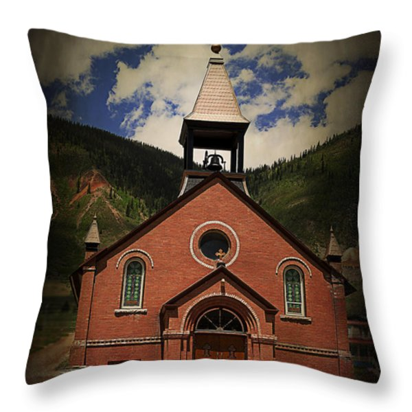 St. Patrick Silverton Colorado Throw Pillow by Janice Rae Pariza