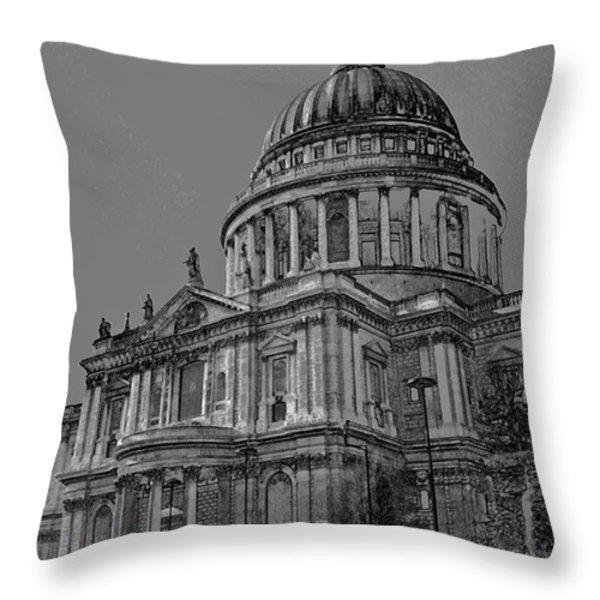St Paul's Cathedral London Art Throw Pillow by David Pyatt