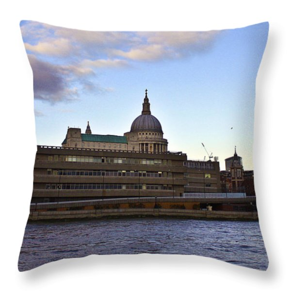 St Paul's Cathedral London Throw Pillow by Terri  Waters