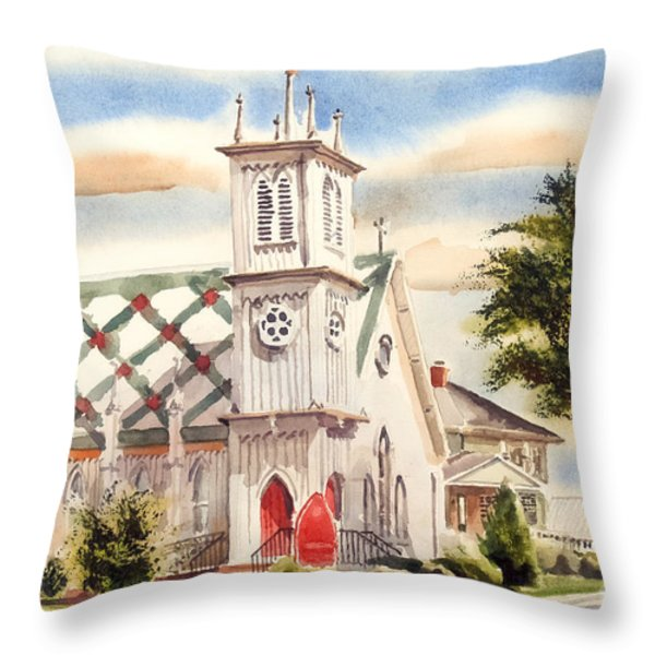 St. Pauls Episcopal Church II Throw Pillow by Kip DeVore