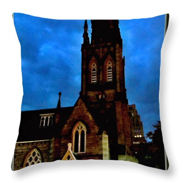 St. Paul's Presbyterian Church Front View Throw Pillow by Danielle  Parent