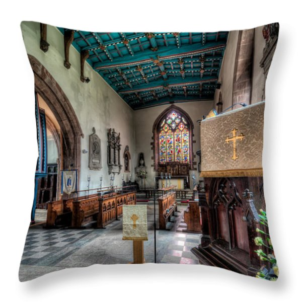 St Peters Throw Pillow by Adrian Evans