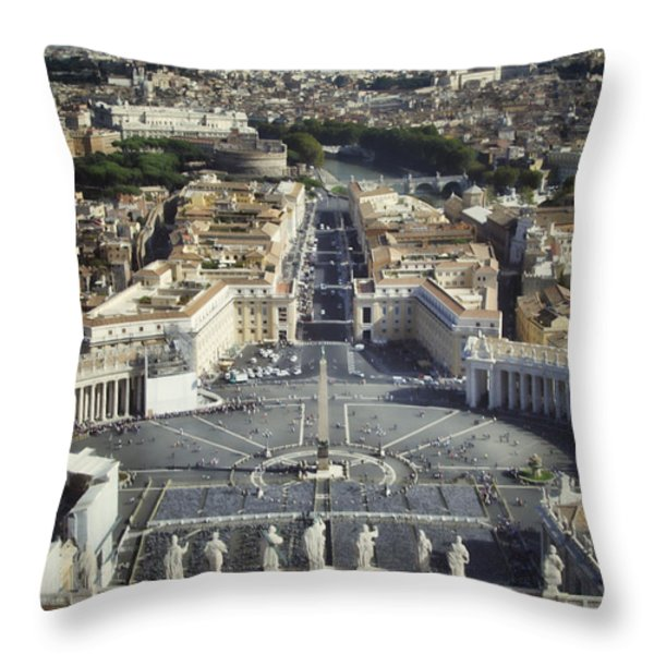 St Peter's Square Throw Pillow by Joan Carroll