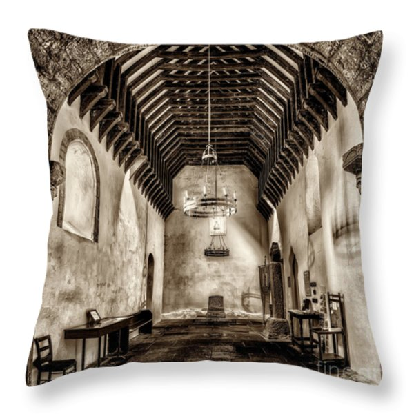 St Seirio Church Throw Pillow by Adrian Evans