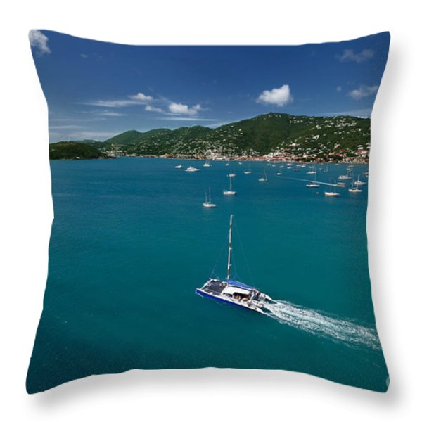 St Thomas Usvi Throw Pillow by Amy Cicconi