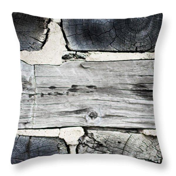 Stacked Block Abstract Throw Pillow by Barbara McMahon