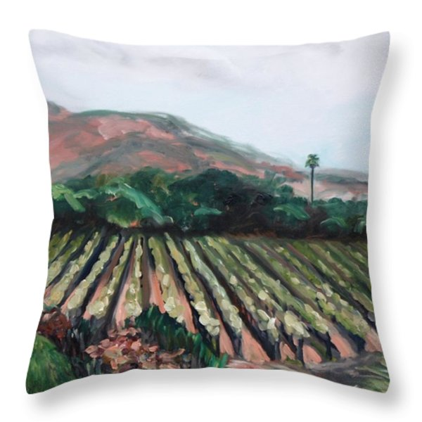 Stag's Leap Vineyard Throw Pillow by Donna Tuten