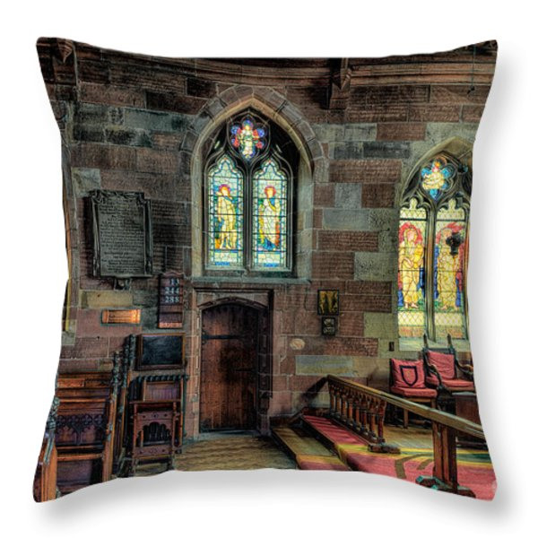 Stained Glass Throw Pillow by Adrian Evans