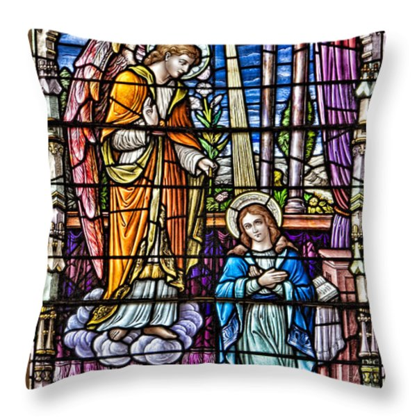 Stained Glass Throw Pillow by Susan Candelario