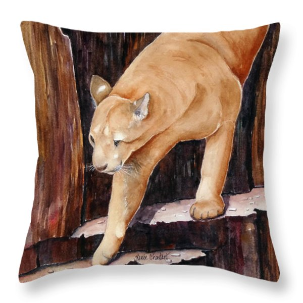 Stair Master Throw Pillow by Renee Chastant