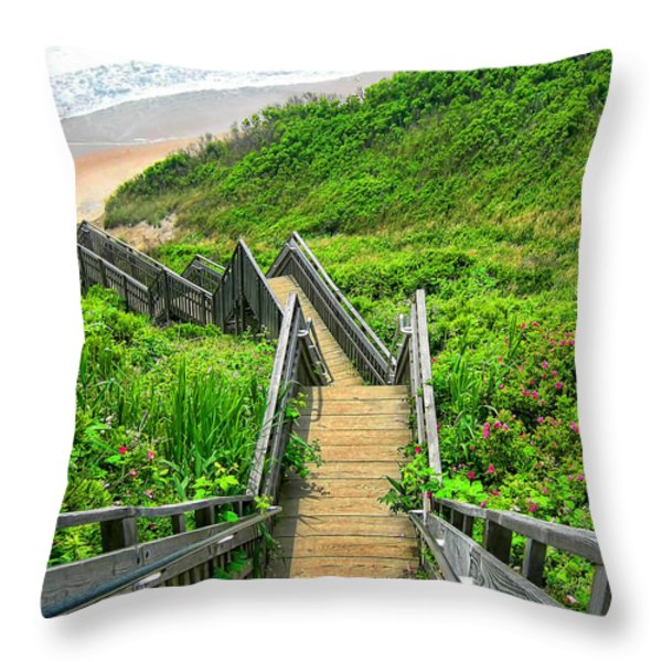 Staircase To Gem Throw Pillow by Lourry Legarde