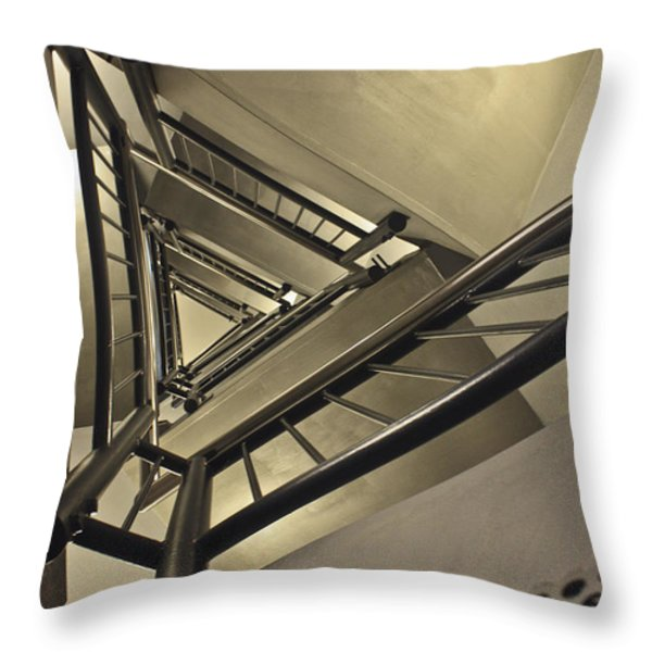 Stairing Up The Spinnaker Tower Throw Pillow by Terri  Waters