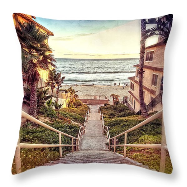 Stairway To Heaven Throw Pillow by Ann Patterson