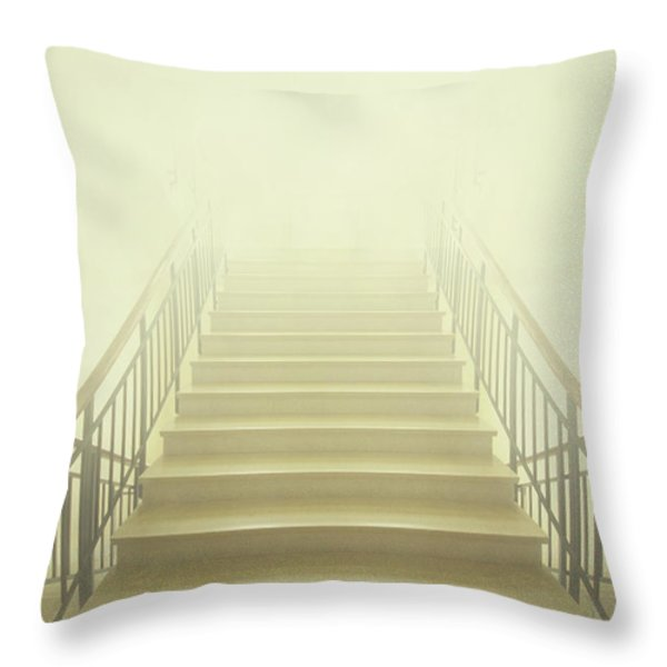 Stairway To Heaven Throw Pillow by Evelina Kremsdorf